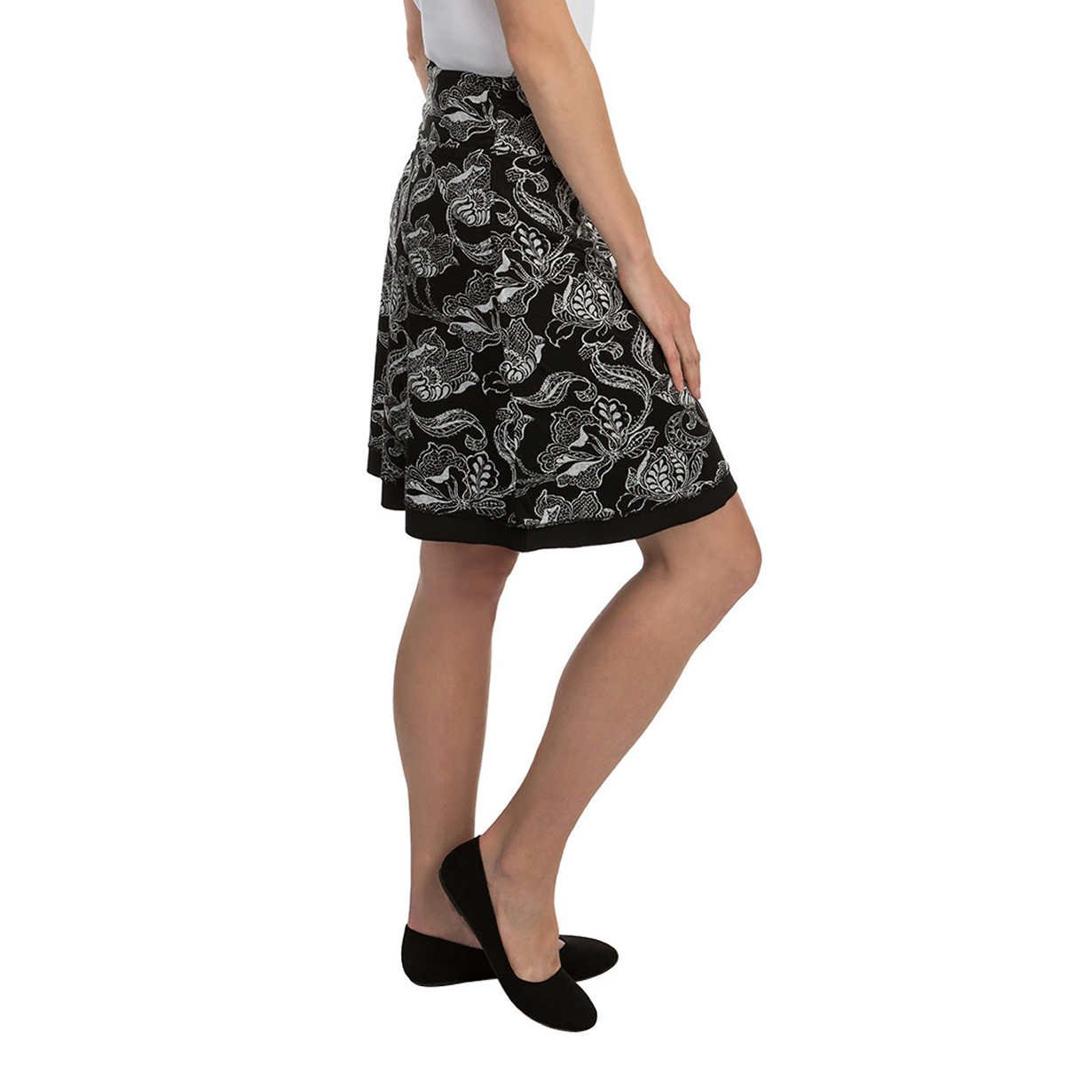 Colorado Clothing Tranquility Women's Reversible Skirt, Black Pattern, Small