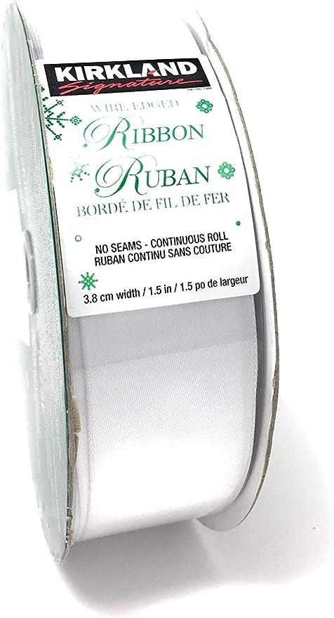"Burlap Wire-Edged Ribbon 50 yd 1.5/"" Wide No Seams Sealed Kirkland Signature"