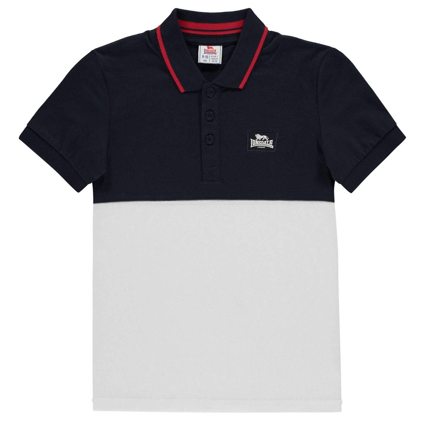 Lonsdale - Polo para niños Azul Marino/Blanco X-Large: Amazon.es ...