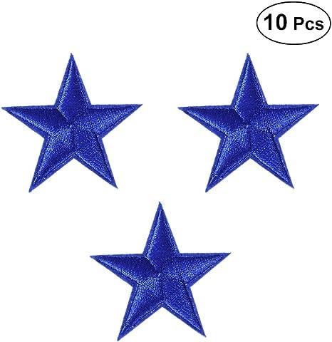 Fashion 10PCs Star Pattern Patch Iron On Garment Dress Jeans Cloth Sewing Craft