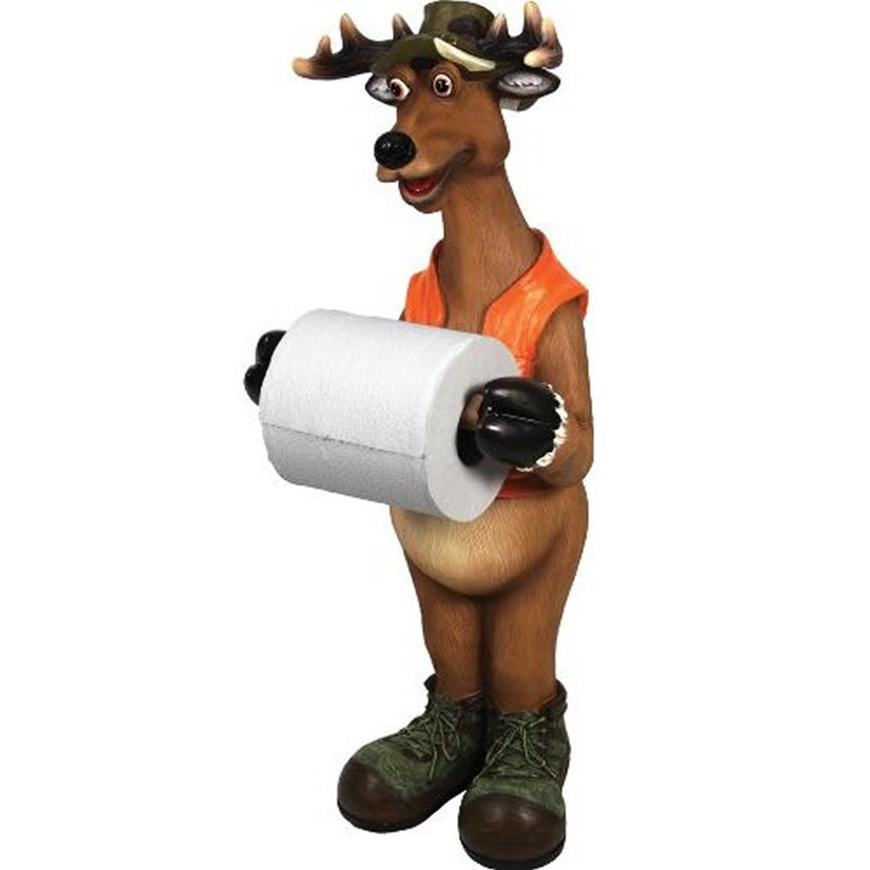 Deer bathroom accessories - Amazon Com Rivers Edge Products Standing Deer Toilet Paper Holder Sports Outdoors