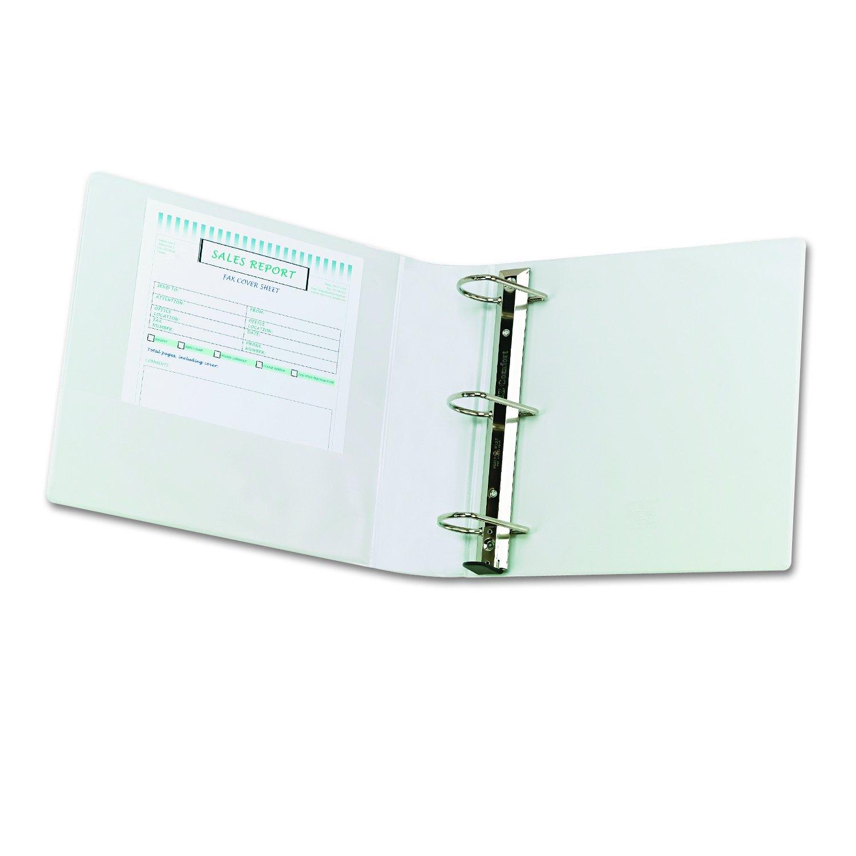 Samsill Clean Touch anillo redondo presentación Fashion cartón protegido por antimicrobiana aditivo, color blanco 7.62 cm: Amazon.es: Oficina y papelería