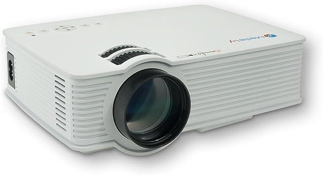 Medialy Gx90 Led Beamer Projektor Heimkinoprojektor Mini Videoprojektor Video Projektoren Videoprojektoren Hd Ready 3dhdmi Hd Heimkino 800 Lumen In Weiß Home Cinema Tv Video