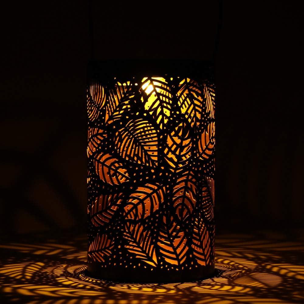SUNJULY SUNJULY LED Lanterne Solaire Allume la Lanterne Suspendue Ext/érieure IP44 Imperm/éabilisent Les Lanternes Darbre de Lumi/ère de Nuit de Cylindre de Lumi/ère de Jardin