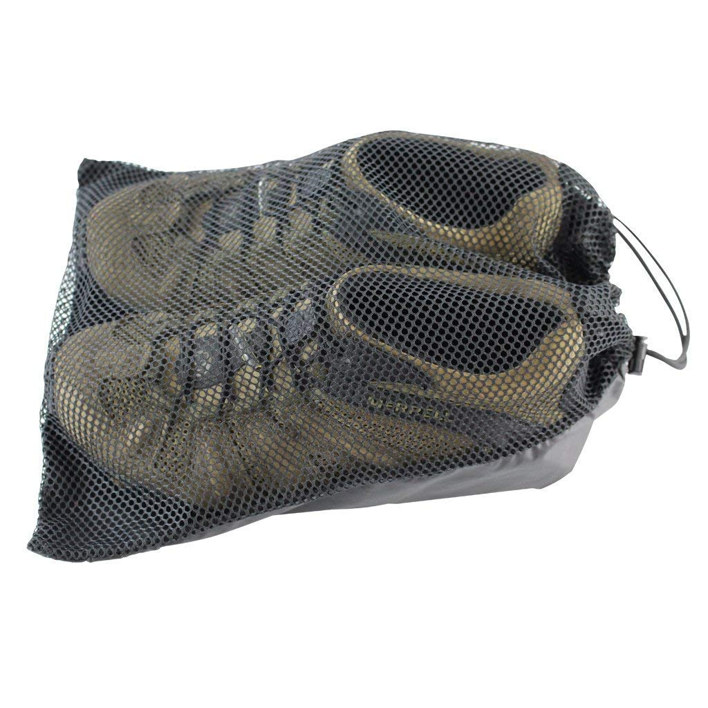 Polyester Mesh Shoe Bag - 11 in x 14 in - SGT KNOTS - Paracord String - Black by SGT KNOTS
