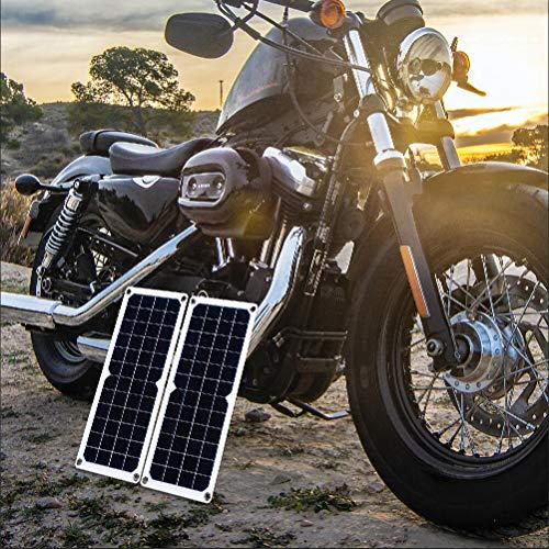 LESOLEIL 10 Watt Sonnenkollektor System Bausatz 12V Polykristallin Solar Modul für WOHNMOBIL Boot Startseite Garten