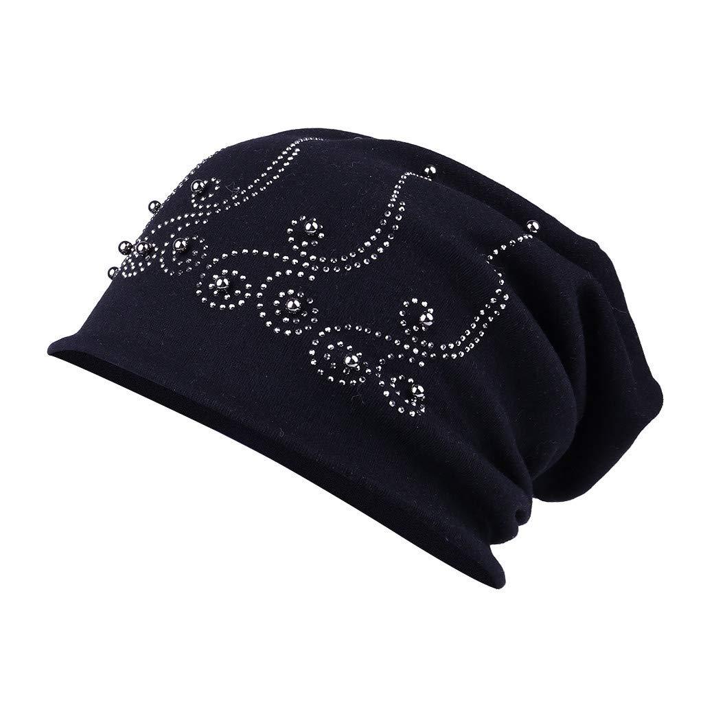 be7878f08 Amazon.com: Tuscom Womens Cotton Beanie Turban Hat Soft Sleep Cap ...