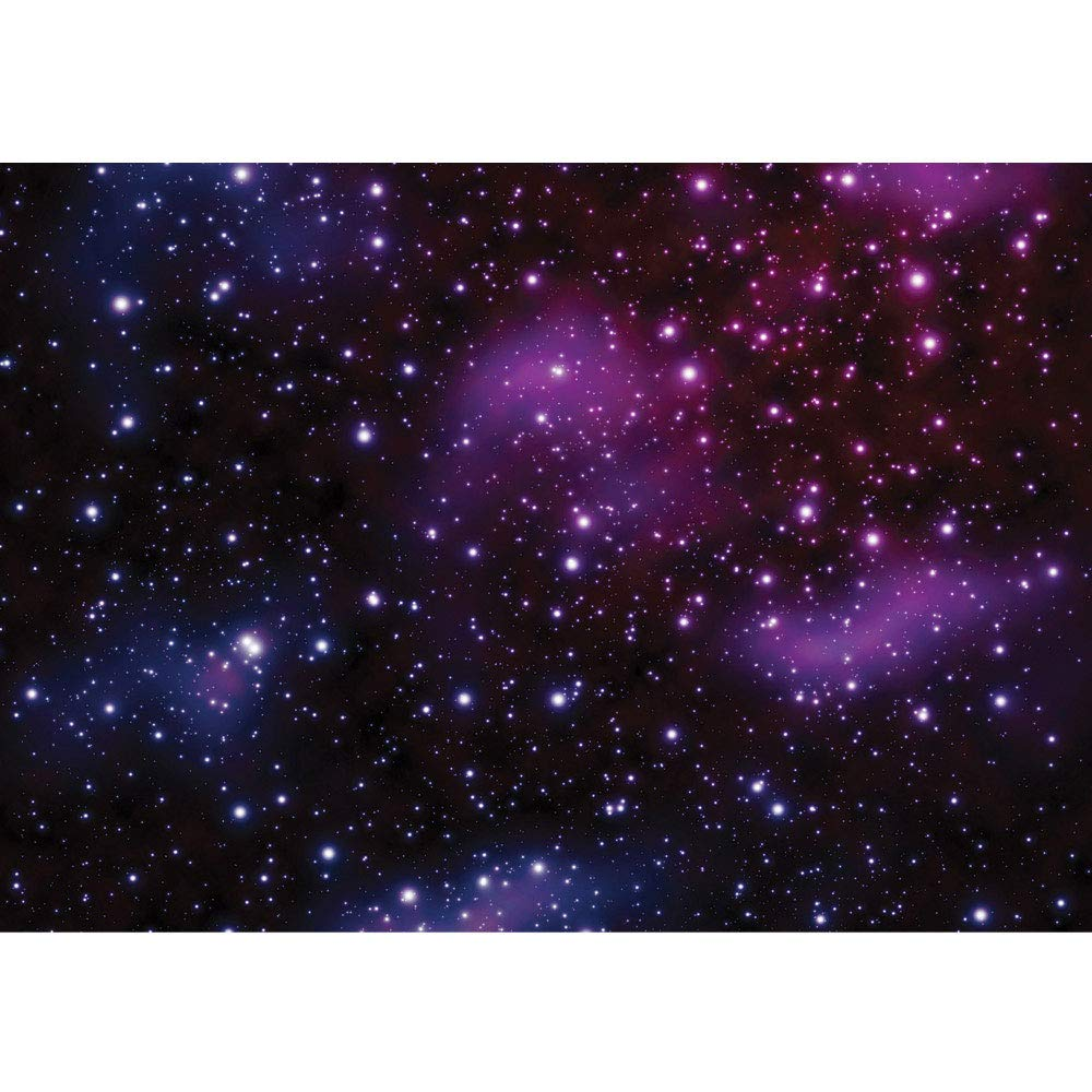 Vlies Fototapete 350x245 cm PREMIUM PLUS Wand Foto Tapete Wand Bild Vliestapete - Sternenhimmel Tapete Galaxy Sterne Weltraum lila - no. 499 B07N41MJGK Wandtattoos & Wandbilder