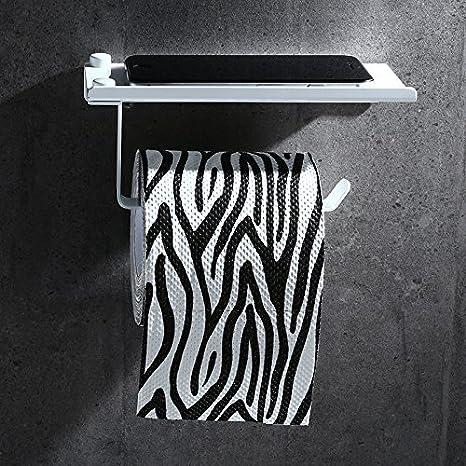 Perchero de aluminio sin espacio Estante de toallas de baño ...