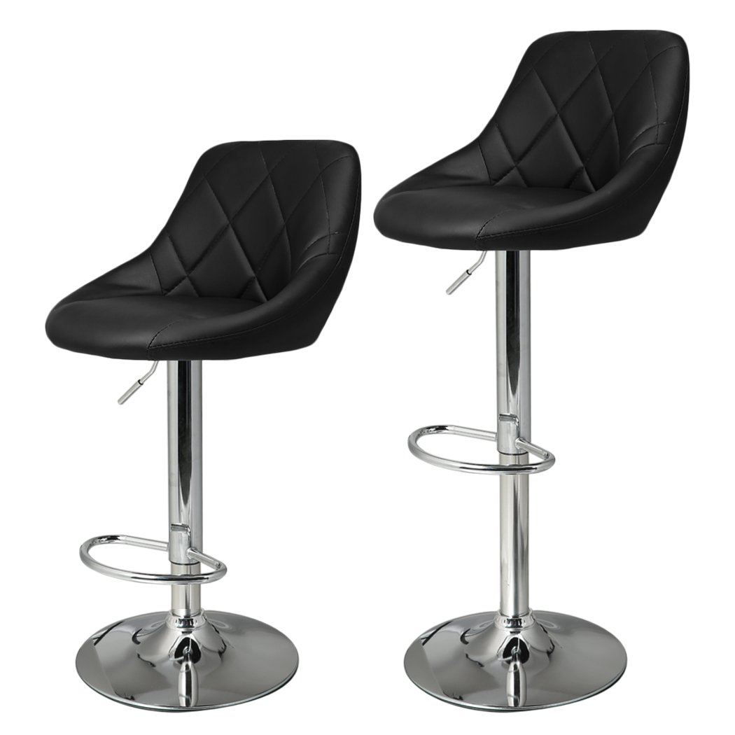 Amazon.com: HOMDOX Bar Chairs, Adjustable Synthetic Leather Swivel Bar  Stools (Black): Kitchen U0026 Dining