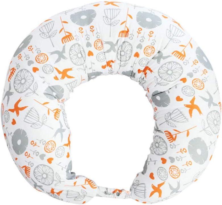 i-baby Cojín Lactancia Almohadas de Lactancia 3 EN 1 para Embarazo y Bebé con Cubierta de Algodón Lavable Extraíble Almohada Maternal de Apoyo para Cuerpo (Aves)