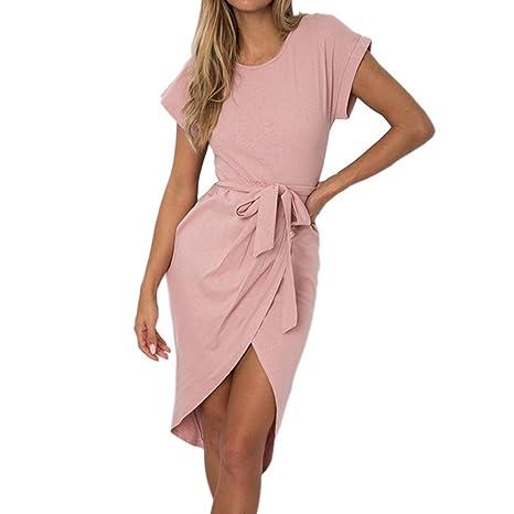Yesmile 💋💝Vestido de Mujer Vestido Corto Partido Vestido Elegante de Noche para Boda Mini