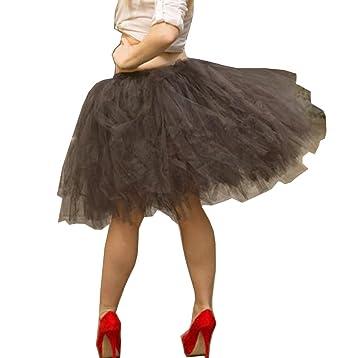 53764ce5199 Handmade Full Puffy Ballerina Tutu Tulle Midi Knee-length Skirt Celeb  Street Style 50cm (