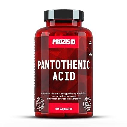 Prozis Ácido pantoténico (vitamina B5) - 500 mg, 60 cápsulas