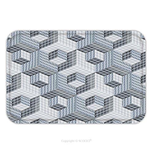 Flannel Microfiber Non-slip Rubber Backing Soft Absorbent Doormat Mat Rug Carpet D Optical Art Pattern Ornament 106996913 for - Optical Windsor