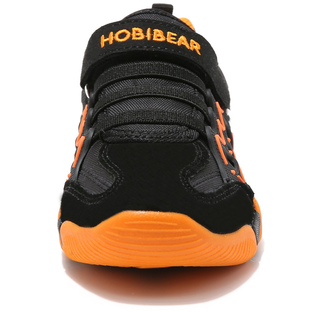 HOBIBEAR children Outdoor Strap Athletic Sneakers Running Shoes AS3209(1.5M,Orange/Black)