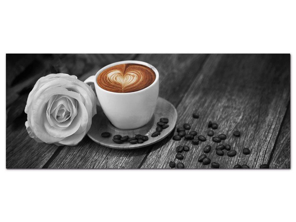 GRAZDesign GRAZDesign GRAZDesign 100064_003_01_04 Acrylglas Wandbild mit Bild-Motiv Kaffee   Wand-Deko Schwarz Weiß für Küche  Küchen-Glasbild aus Acryl (150x50cm) ebffb2