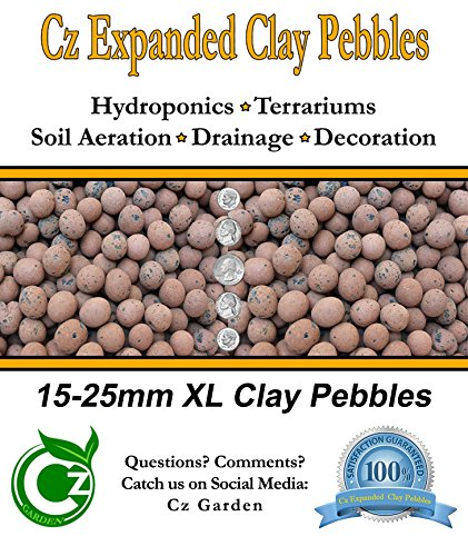 ORGANIC XL Leca Clay Pebbles Grow Media - Orchids Aquaponics Aquaculture Hydroponics - by Cz Garden Supply (2 LB - XL Clay Pebbles)