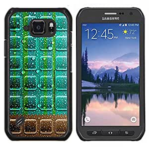 "Be-Star Único Patrón Plástico Duro Fundas Cover Cubre Hard Case Cover Para Samsung Galaxy S6 active / SM-G890 (NOT S6) ( Neon chocolate"" )"