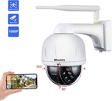Cámara IP Exterior, Camara IP WiFi 1080p, Cámara PTZ Vigilancia ...