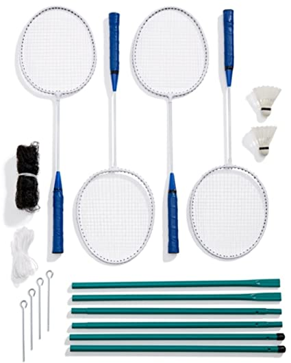 Sporting Goods Cooperative New 4 Player Badminton Set With Racket Net Shuttlecock Outdoor Garden Game Sport Badminton