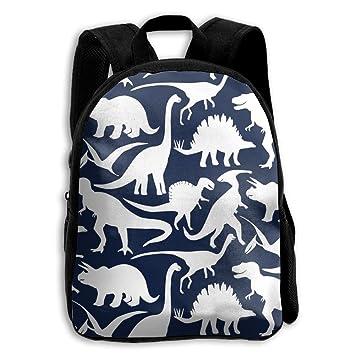 NHRTYHFWDG Mochila Escolar Personalizada Dinosaurio Azul Marino (7888) Mochila Infantil Mochila, Bolso de Hombros, Mochila Casual, Mochila de Viaje: ...