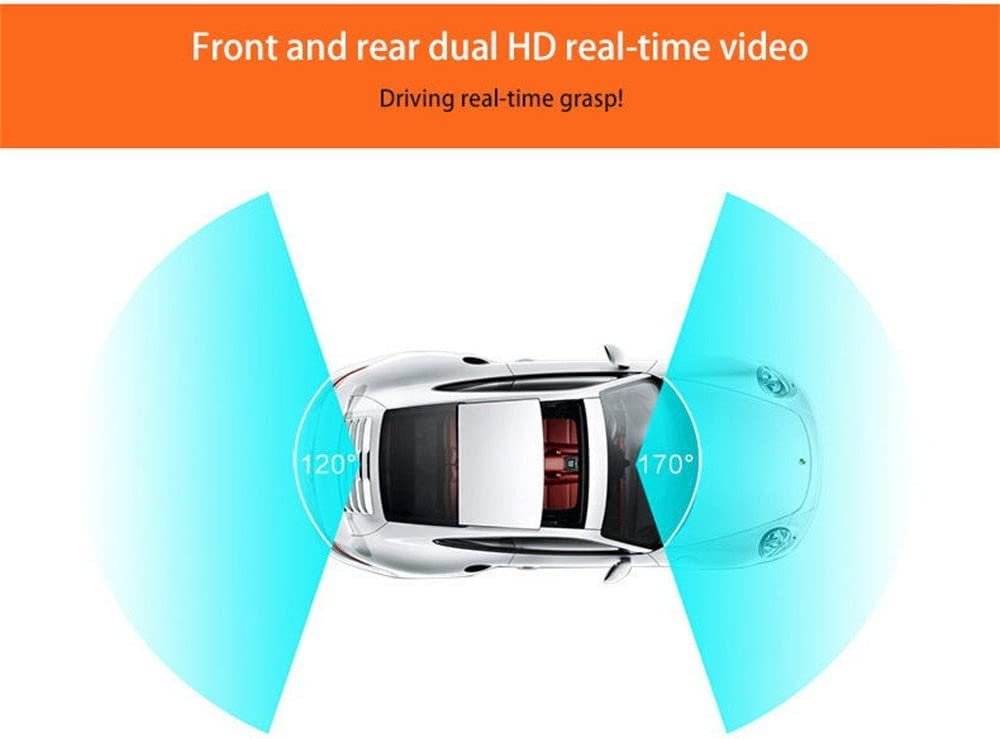 Lyperkin Lens Dash Cam 2.8 LCD Full HD 1080P 170/° Wide Angle Mirror DVR Rearview Mirror Camera with Motion Mode,Loop Recoeding and G-Sensor.