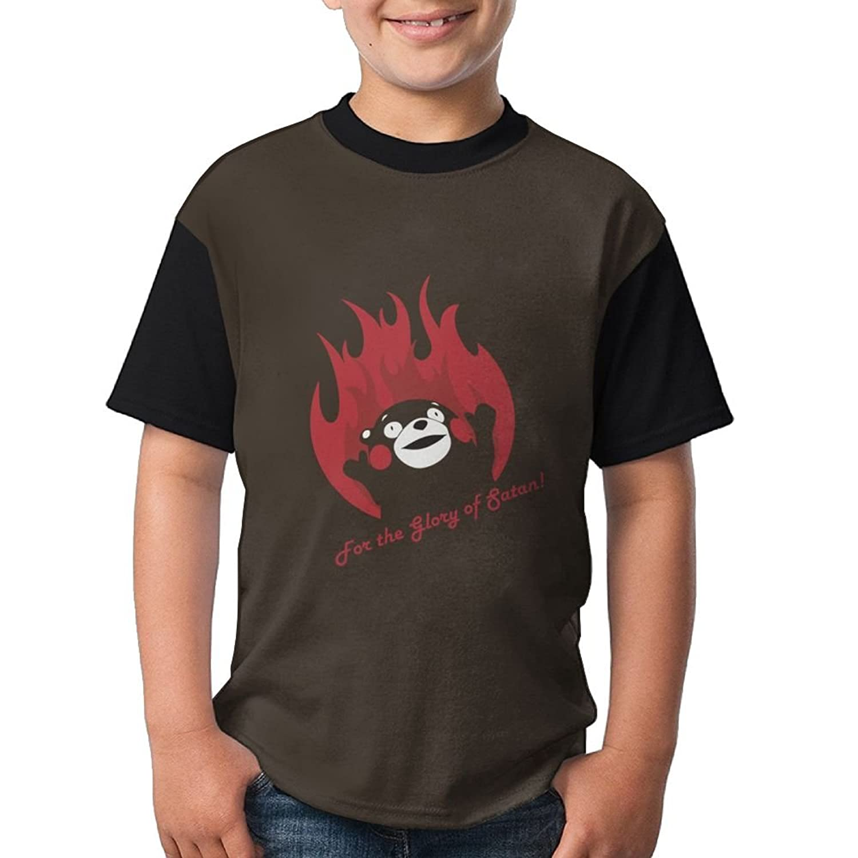 cheap Teenage T Shirt Kumamon-for The Glory of Gatan Graphic Black Tee for sale