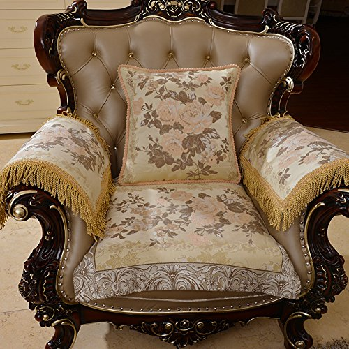 European style sofa cushions Luxury slip sofa cushions Fabric seat cushion B 90x210cm(35x83inch) by Sofa towel