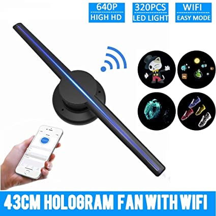 GRASSAIR Proyector Holográfico WiFi 3D Reproductor De ...