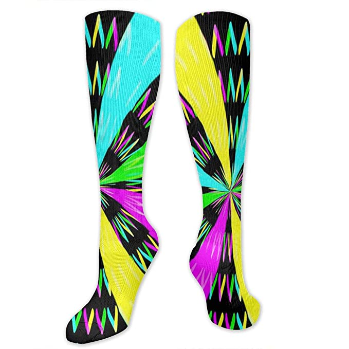 Color Number Printed Crew Socks Warm Over Boots Stocking Cool Warm Sports Socks
