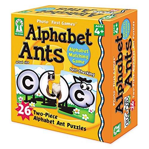 Carson-Dellosa 842001 Photo First Games, Alphabet Ants, 52 (Carson Dellosa Puzzle)