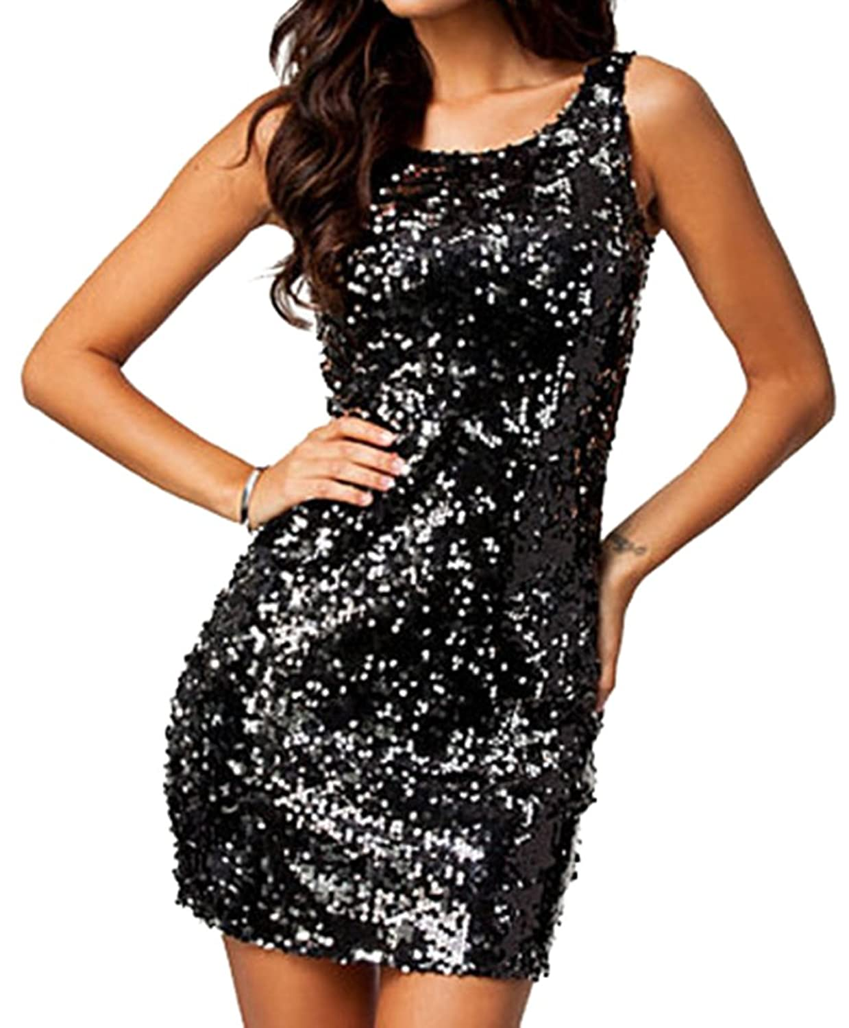 Little Black Sequin Dress