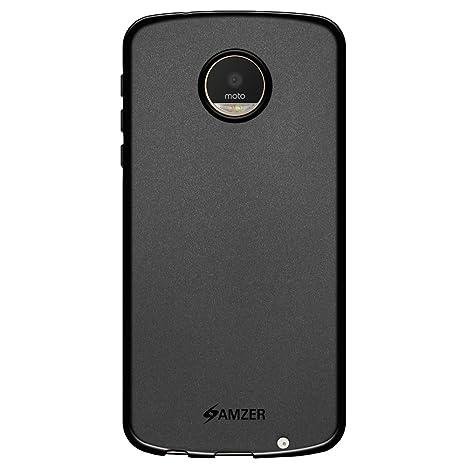 super popular 2ffa7 e2a5d AMZER Pudding TPU Case Back Cover for Motorola Moto Z Play - Black