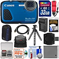 Canon PowerShot D30 Shock & Waterproof GPS Digital Camera with 32GB Card + Case + Battery/Charger + Flex Tripod + Float Strap + Kit Basic Facts Review Image