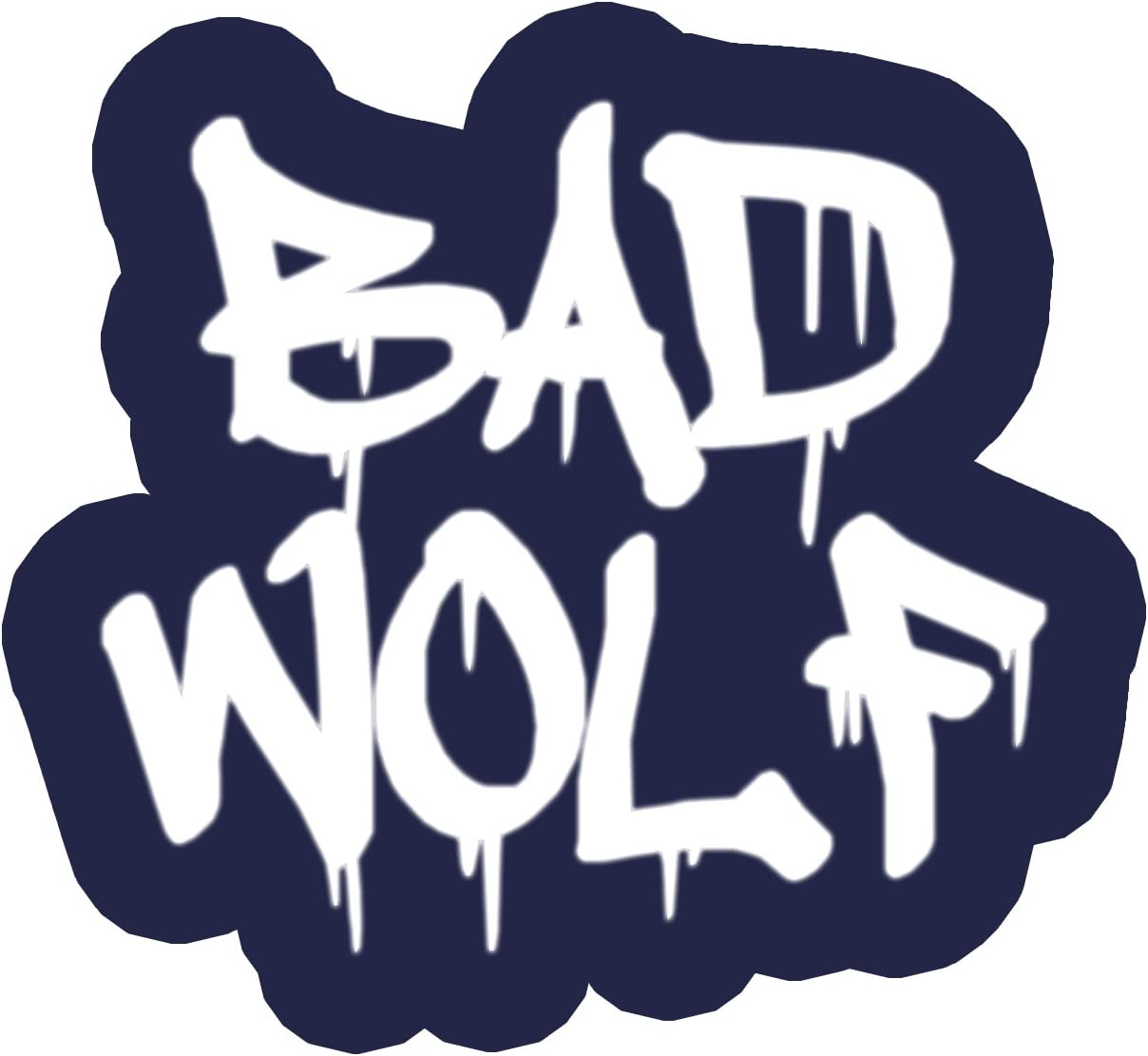 Bargain Max Decals Bad Graffiti Wolf Blue Paint Drip Window Laptop Car Sticker 5.5""