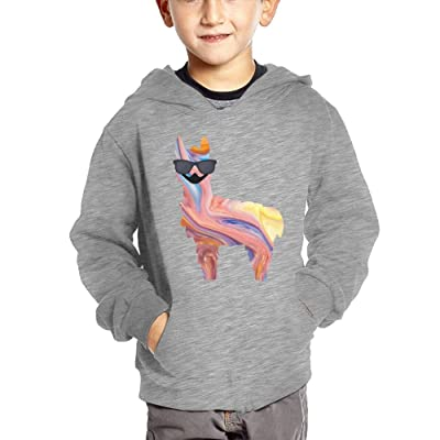 Dw5 Hoodies Llama Sunglasses Mustache Funny Unisex Baby Funny Pullover With Pocket Hoodies Cotton Sweatshirt