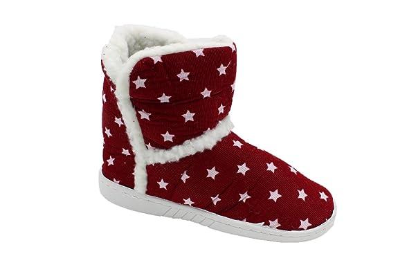 a90585c52c710 buyAzzo Kinder Warmfutter Hausschuhe Norweger Pantoffel Stiefel  Stiefeletten Hüttenschuhe Gefüttert BA410508