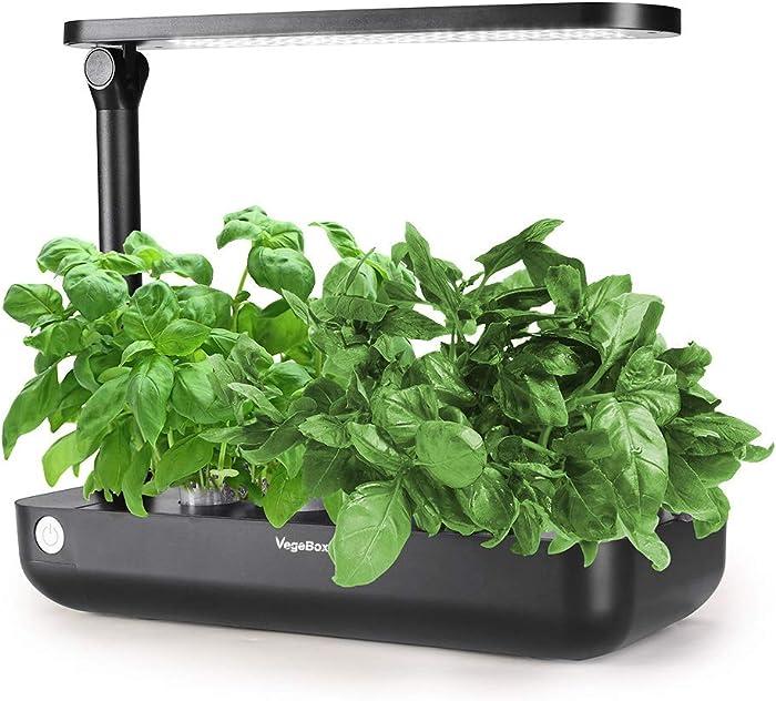 Hydroponics Growing System,Support Indoor Grow,herb Garden kit Indoor, Grow Smart for Plant, Built Your Indoor Garden (Small-Black)