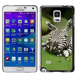 rígido protector delgado Shell Prima Delgada Casa Carcasa Funda Case Bandera Cover Armor para Samsung Galaxy Note 4 SM-N910F SM-N910K SM-N910C SM-N910W8 SM-N910U SM-N910 /Baby Cute Art Sleeping Nature/ STRONG