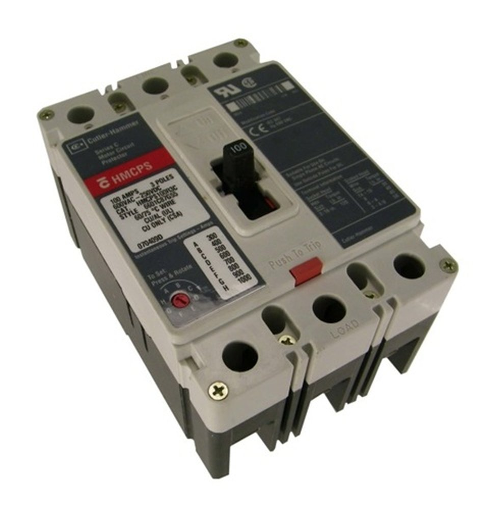 New Eaton Cutler Hammer Hmcps030h1c Circuit Breaker Motor Protector Electric Breakermotor Product On 3p 30a 600v