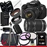 Canon EOS Rebel T4i Digital Camera with EF-S 18-55mm f/3.5-5.6 IS II and 55-250 IS II Lens Kit 32GB Package 6, Best Gadgets