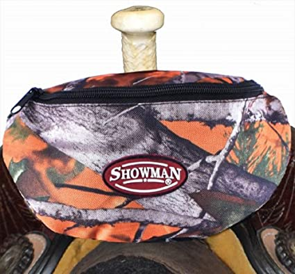 Showman Purple Camouflage Insulated Convenient Phone Accessory Snack Nylon Saddle Pouch Sack