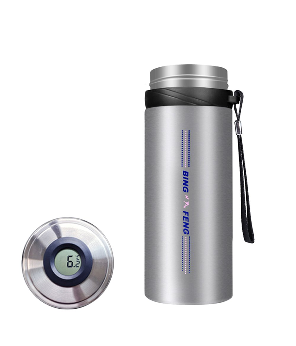 Zowaysoon Portable Insulin Cooler Cup Travel Cooling Refrigerated Vacuum Insulated Stainless Steel Bottle for Insulin Medication 18 Degrees 72 hours Temperature Display