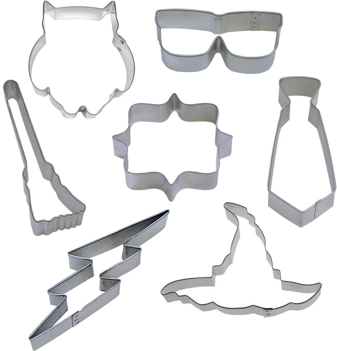 7 Piece Witch and Wizard Cookie Cutter Set by Harry potter (Image #1)