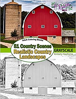 Amazon.com: Adult Coloring Books: 51 Country Scenes in ...