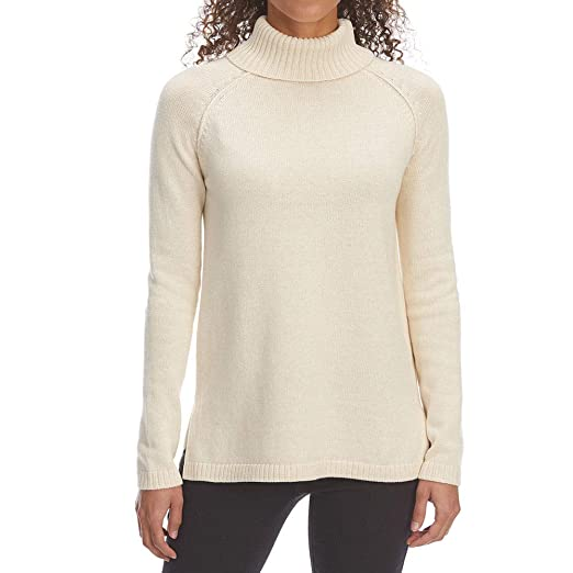 e9c01a1887223 Jeanne Pierre Women s Perfect Turtleneck Long-Sleeve Sweater Heather Beige S