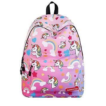 Kids Unicorn Backpack Children Rainbow Printed Shoulder Bag