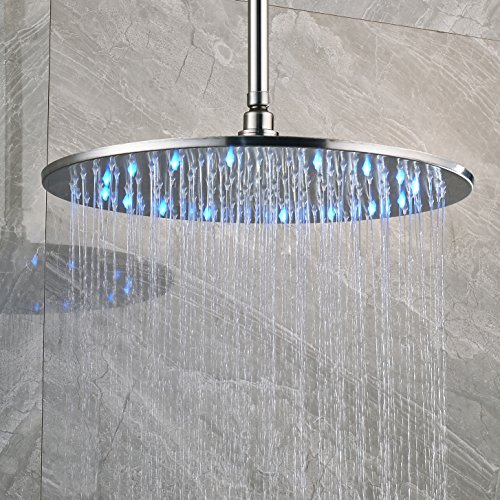 16inches brushed nickel LED shower head - 7