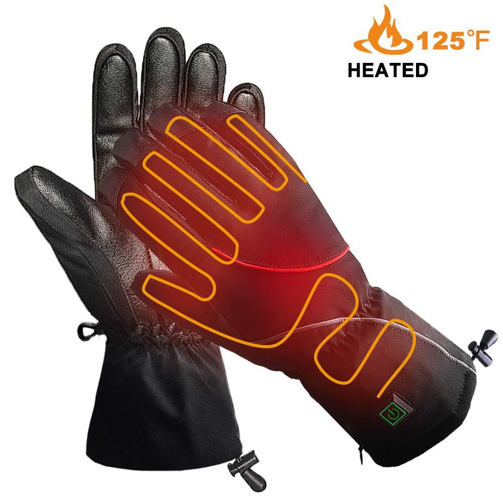 冬用手袋 スキーグローブ 防寒 防水 滑り止め アウトドア スキー 乗馬 運転 登山 Large Heated Gloves B07L5C7QMM